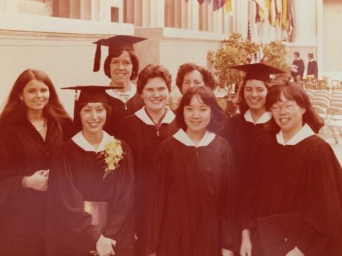 Photo: Keith Gockel  SWE members, Class of 1977, at their graduation