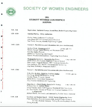 First Student Member Conference Agenda